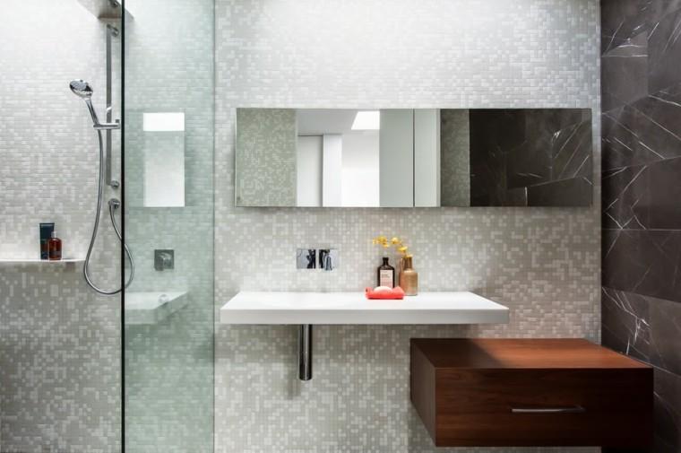 baños modernos con ducha mosaico ducha estilo contemporaneo ideas