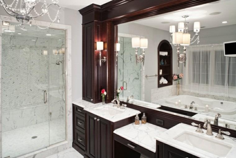 banos modernos con ducha muebles cerezo ideas