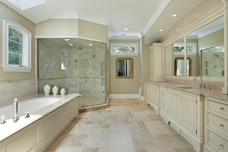 banos modernos con ducha muebles madera ideas