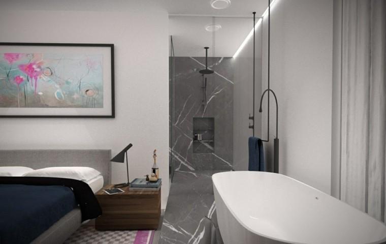 baños modernos con ducha plano abierto minosa ideas