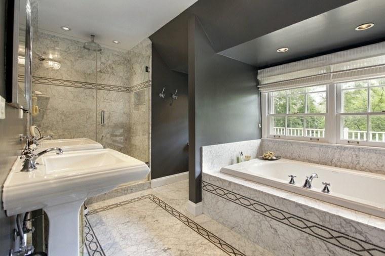 banos modernos con ducha ventanas banera ideas
