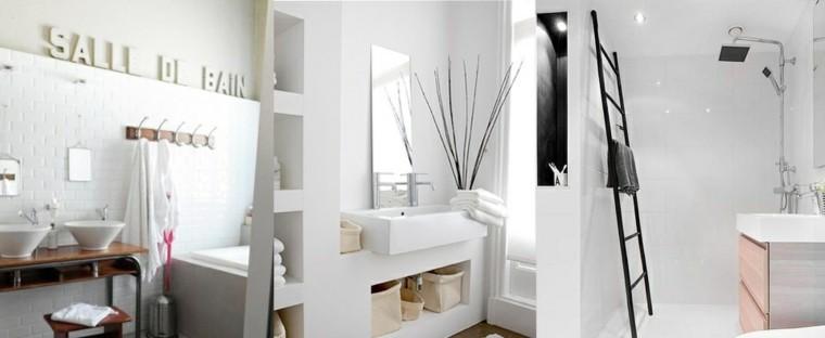 baños pequeños estilo clasico blanco ideas