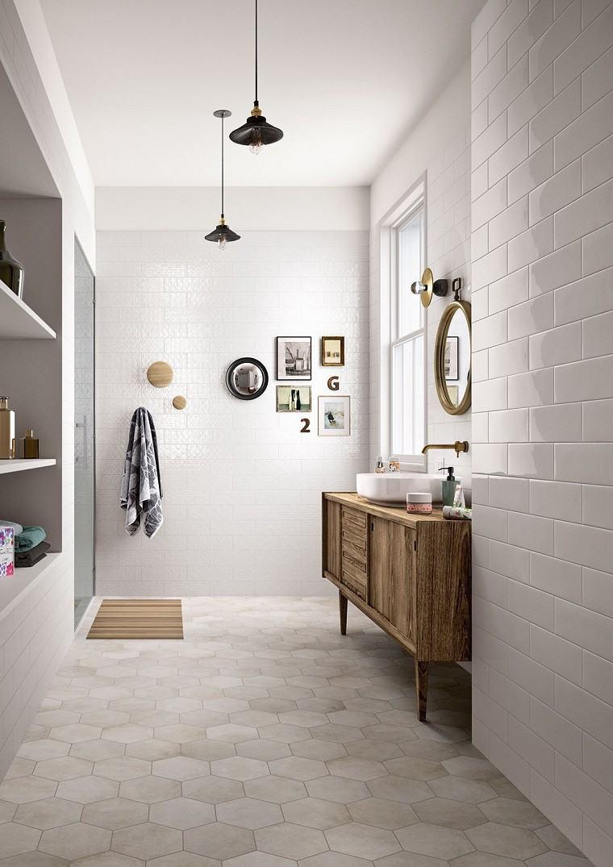 Baño Pequeno Vintage:Baños pequeños: 36 ideas para espacios estrechos -
