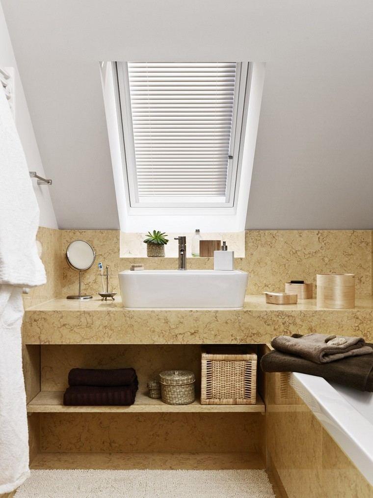 Baños Amarillos Pequenos:Baños pequeños: 36 ideas para espacios estrechos -