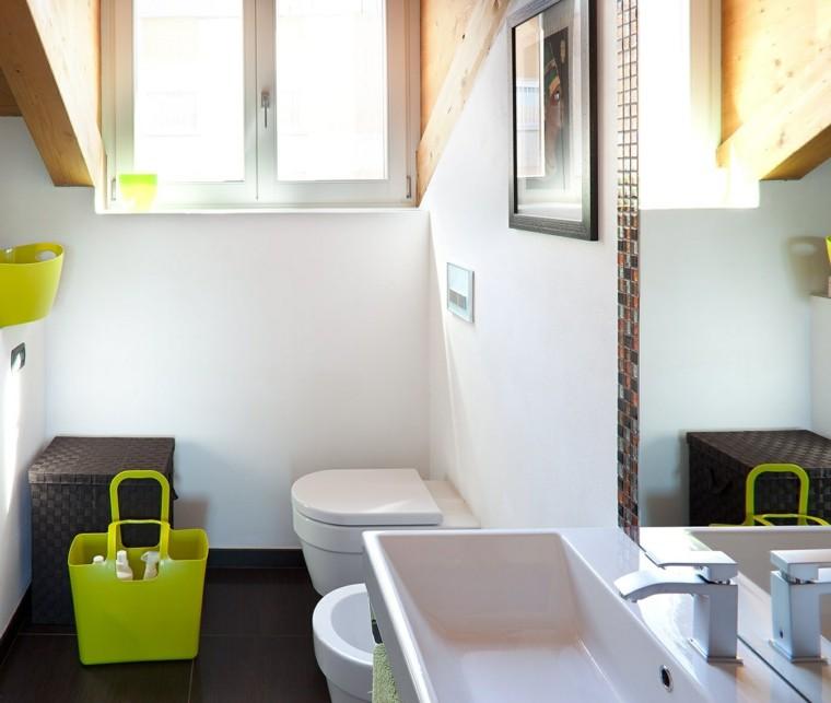 banos pequenos lavabo espejo ideas