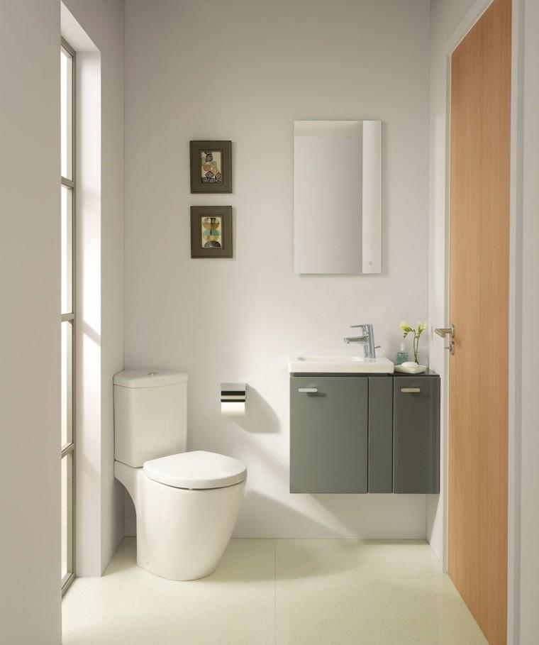 Ba os peque os 36 ideas para espacios estrechos for Lavabos modernos para banos pequenos