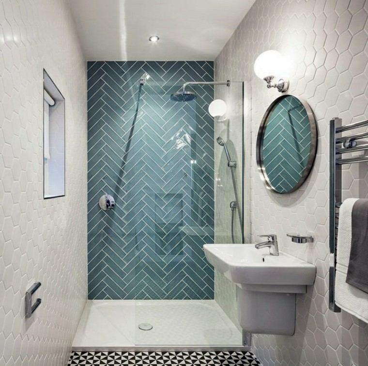 Ba os peque os 36 ideas para espacios estrechos - Losas de bano ...