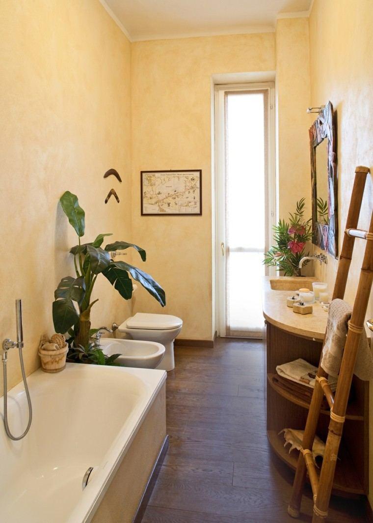 Ba os peque os 36 ideas para espacios estrechos - Ideas para decorar pisos pequenos ...