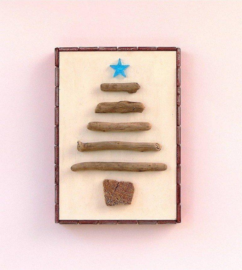 abeto navidad madera flotanmte