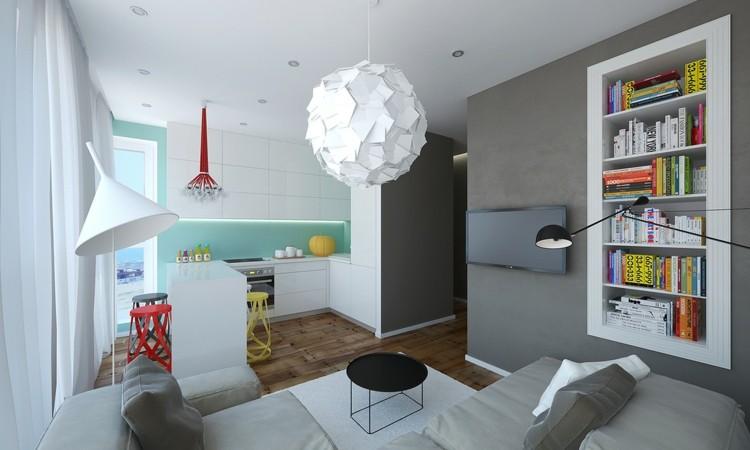 blanco colores paredes grises colorido