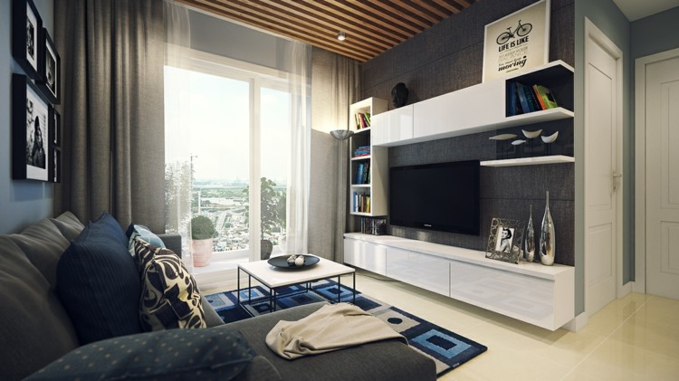 blanco mobiliario ideas estilos estantes suelo