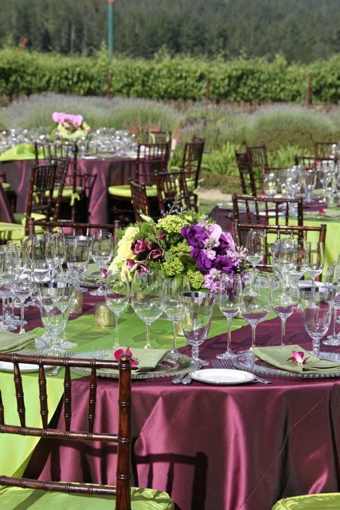 Centros de mesa para bodas al aire libre