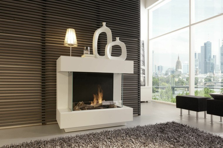 chimeneas de bioetanol para interiores modernos. Black Bedroom Furniture Sets. Home Design Ideas
