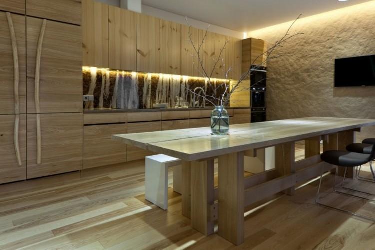 bonita cocina moderna luces deco