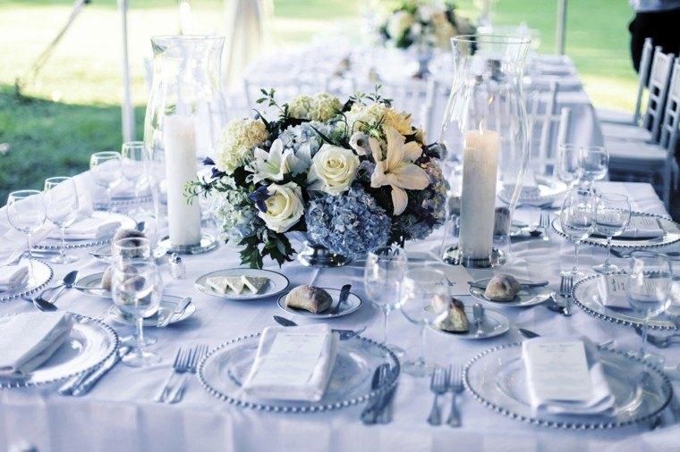 bonita mesa deco color celeste
