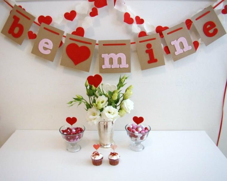 bonita mesa decoracion san valentin