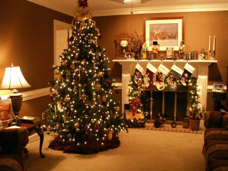 bonita decoración salón navideño