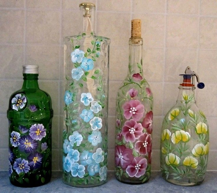 Decoracion con botellas reciclar puede ser divertido - Botellas de cristal decoradas ...