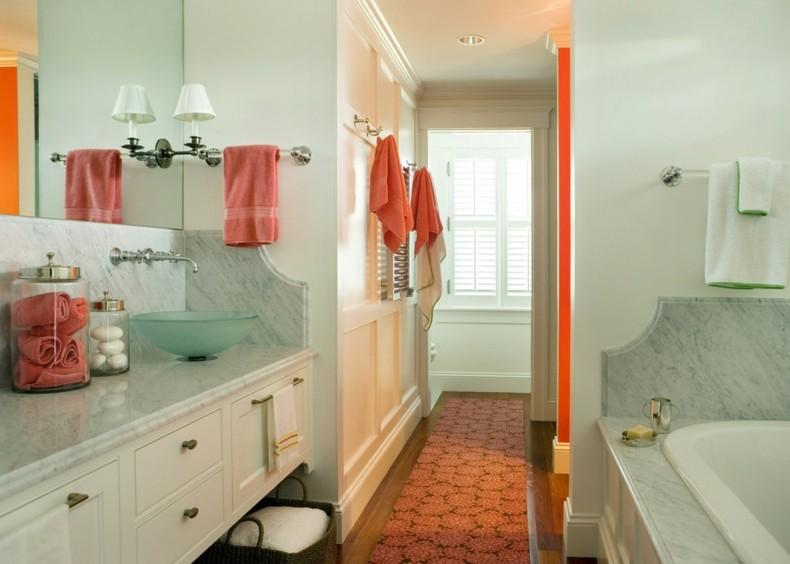 bonita eleccion colores cuarto baño