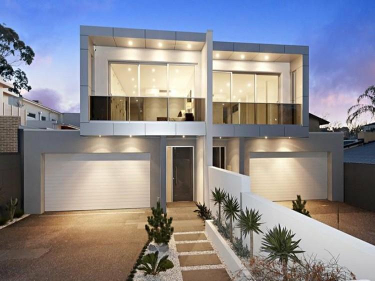 bonita casa moderna blanca