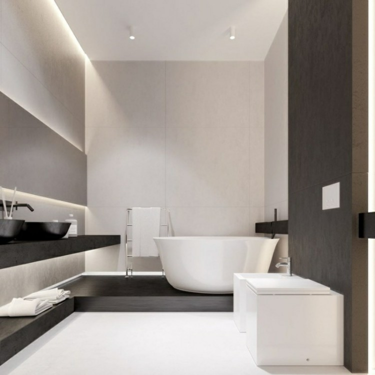 bonito diseño cuarto baño moderno
