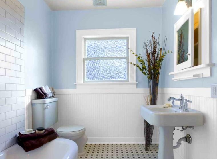 bonito diseño baño retro celeste