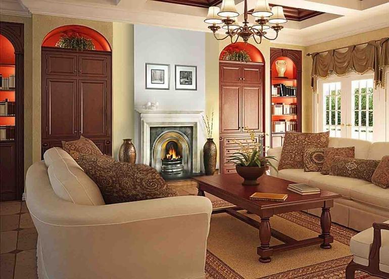 original diseño salón rústico