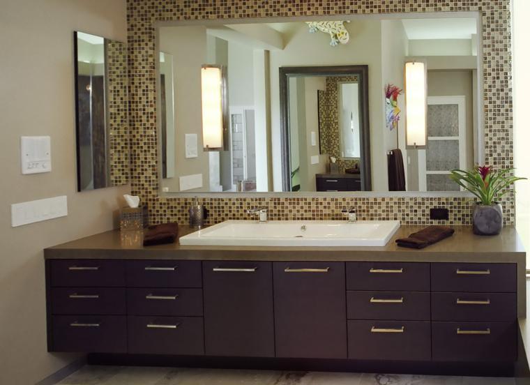 Espejos para ba os los 38 modelos m s modernos - Pared con espejos ...