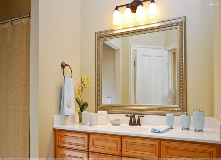 Espejos para ba os los 38 modelos m s modernos for Espejo marco dorado