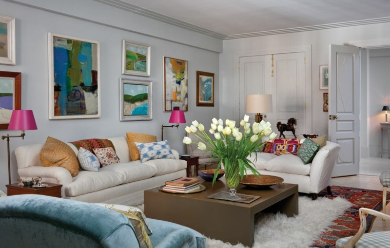 bonito salon decorado colores