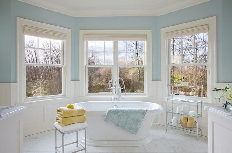 bonito baño estilo retro celeste