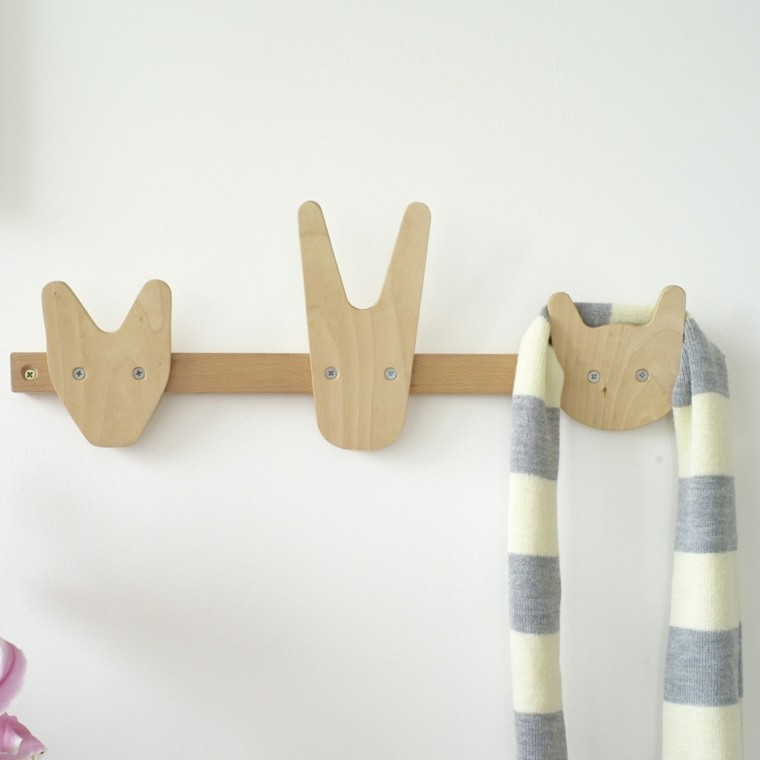 Percheros originales funcionales y decorativos 38 modelos - Percheros infantiles de pared ...