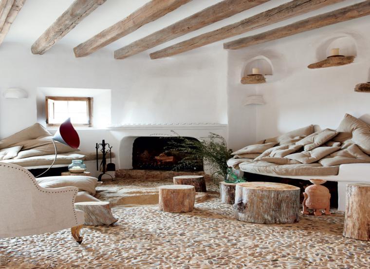 Salon Rustico Blanco: Decoración de salones modernos rústicos y ...