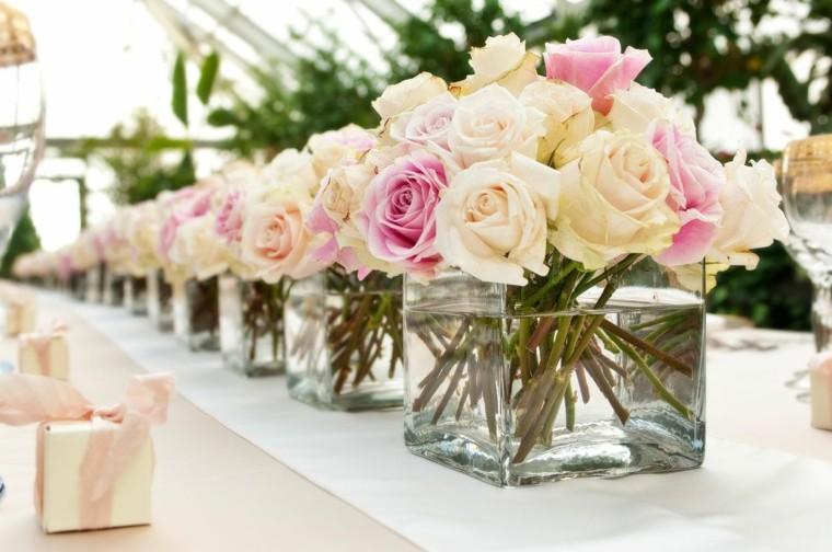 bonitos centros mesa rosas