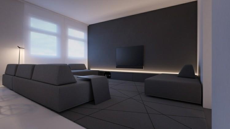 bordes lamparas led modernas salón