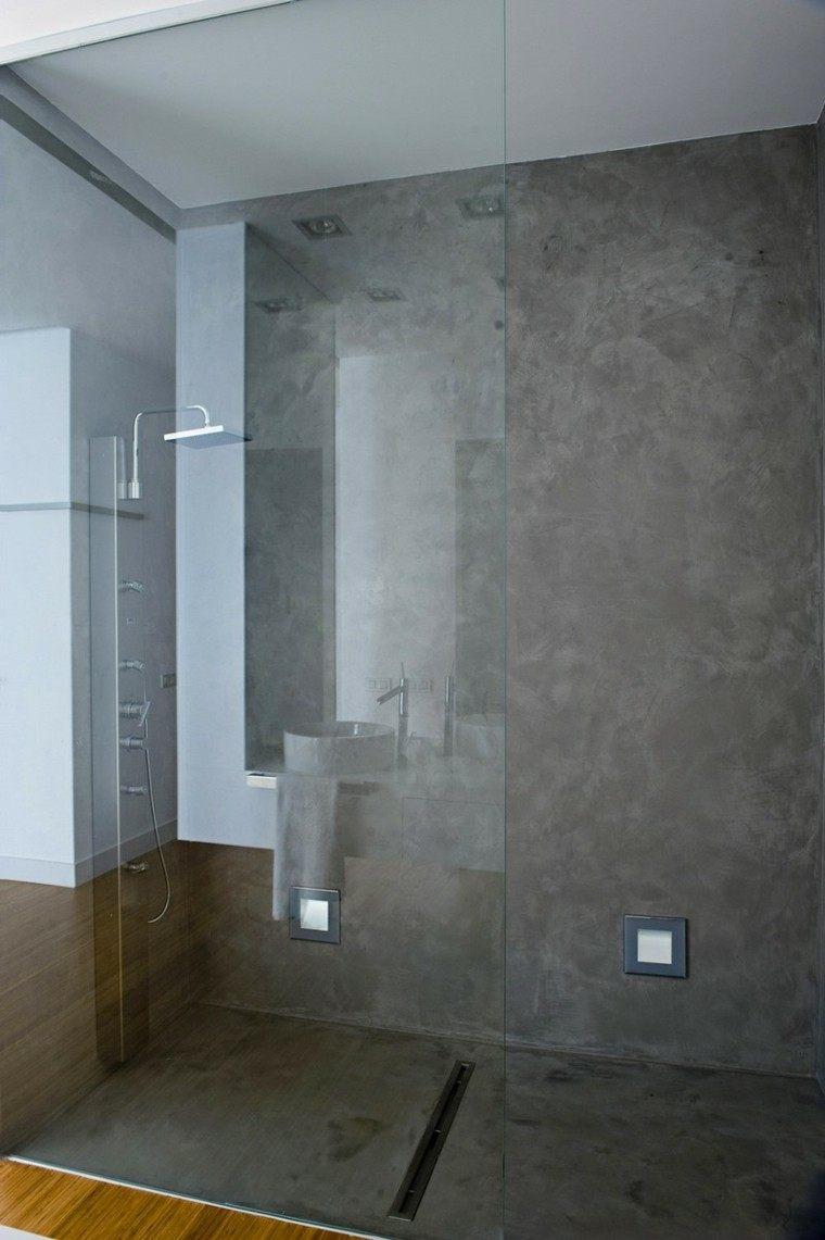 cabina ducha paredes microcemento