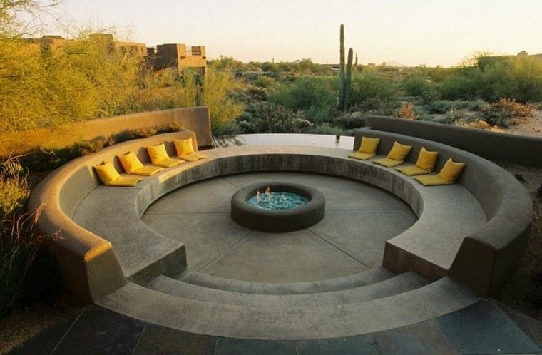 cactus paredes jardines troncos led cojines