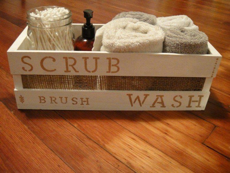 caja madera frutas deco baño