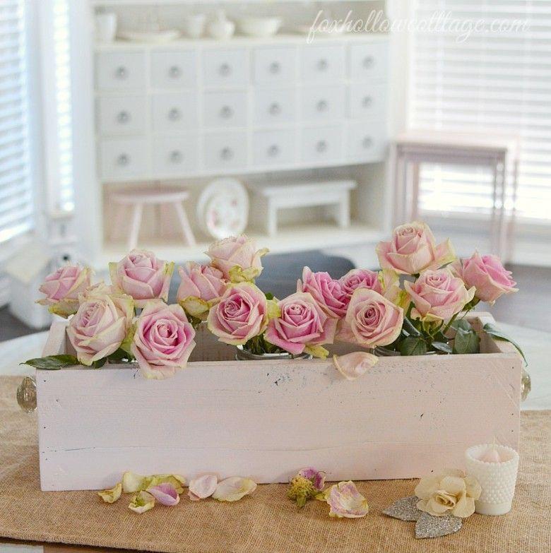 caja madera jardinera hermoso florero