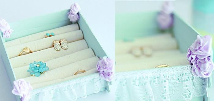 cajita azul preciosas guardar joyas regalo ideas