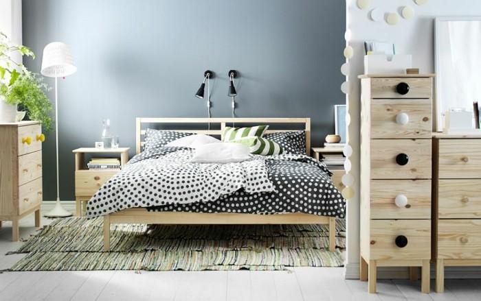 cama armarios dormitorio madera natural ideas