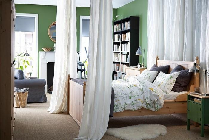 cama dodel paredes verdes dormitorio ideas
