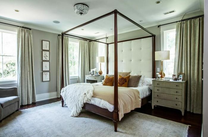 cama dosel preciosa dormitorio moderno ideas