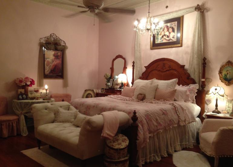 habitaciones vintage cama estilo retro color rosa