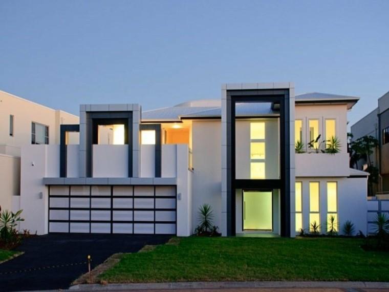 casa blanca fachada diseño