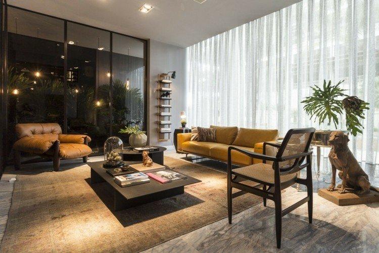 casa diseño areas plantas verdes cuero