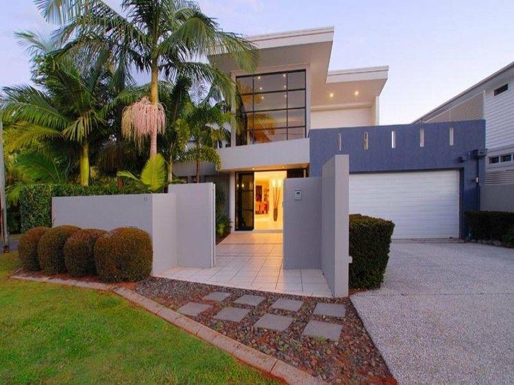 casa diseño moderno fachada contemporanea