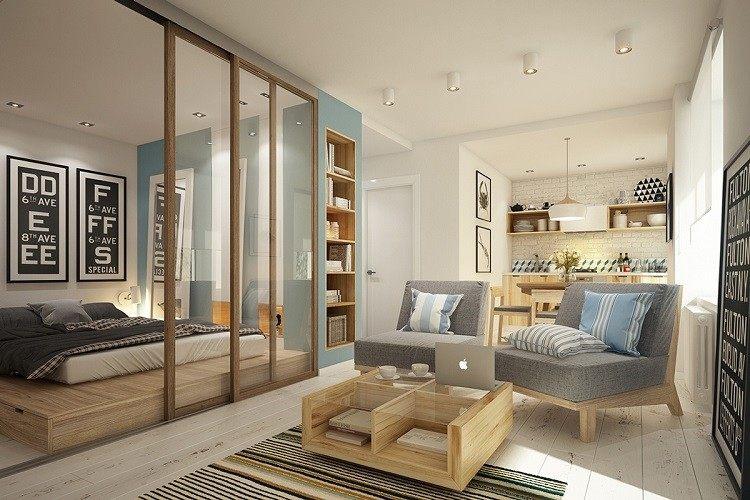 casa elementos madera troncos moderno