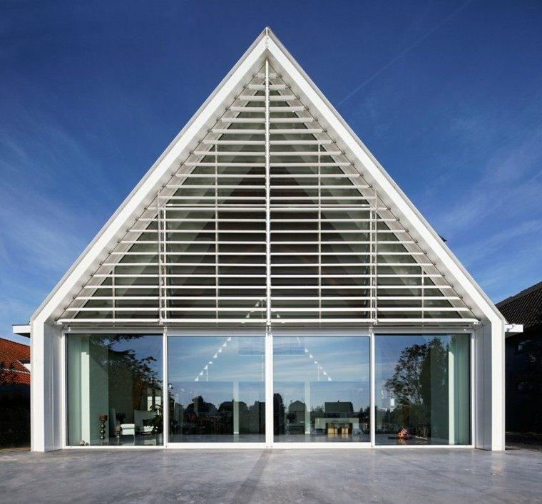 casa fachada blanca diseño moderno