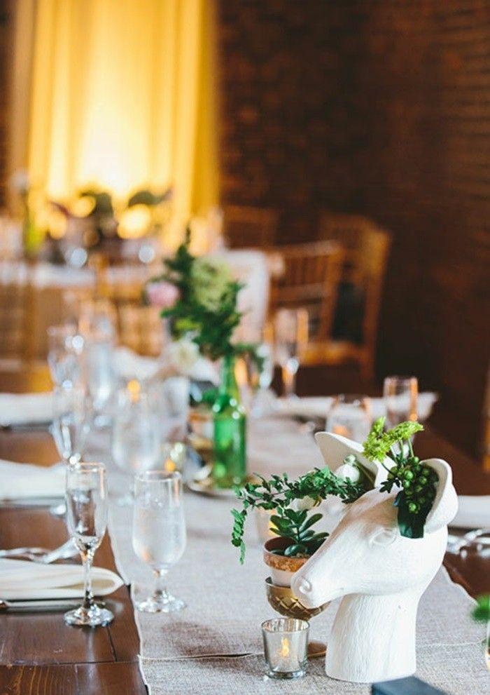 Centros de mesa para bodas 100 ideas maravillosas for Decorar mesa de salon